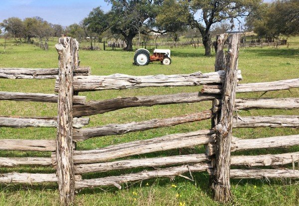 wooden fence on texas ranch